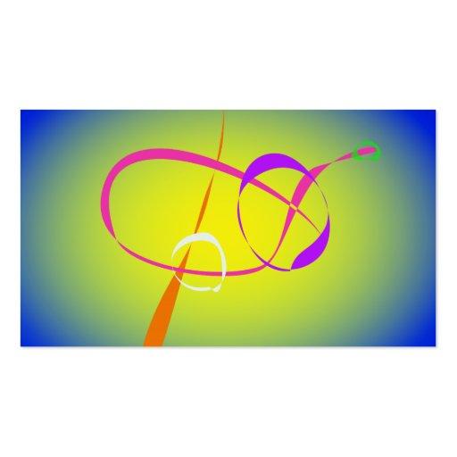 Arte abstracta do contraste e do Fuzziness Modelos Cartoes De Visitas