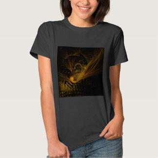 Arte abstracta do limite de ruptura camisetas