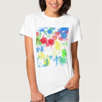 Arte abstracta do respingo das cores t-shirts