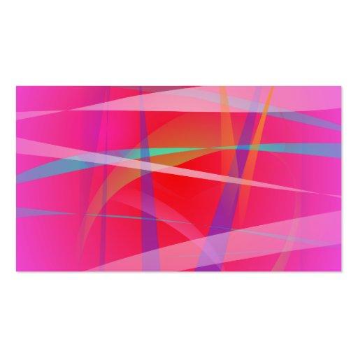 Arte abstracta do rosa chocante cartões de visita