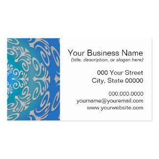 Arte abstracta do verde azul cartão de visita