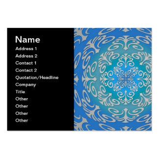 Arte abstracta do verde azul cartão de visita grande