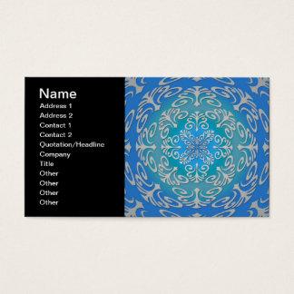 Arte abstracta do verde azul cartão de visitas