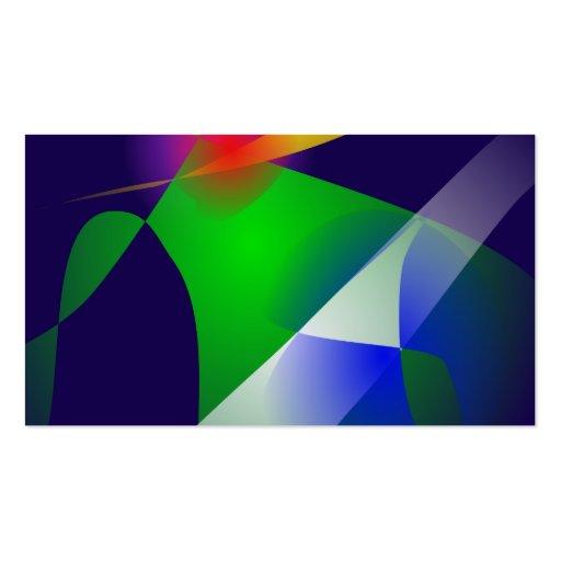 Arte abstracta dos azuis marinhos cartões de visita