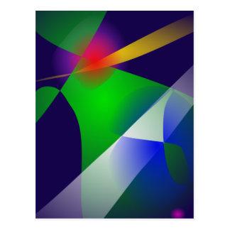 Arte abstracta dos azuis marinhos cartão postal