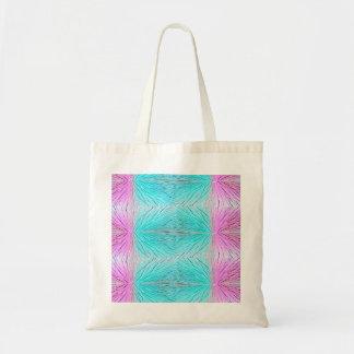 Arte abstracta dos cristais nos rosa e no verde bolsa para compras