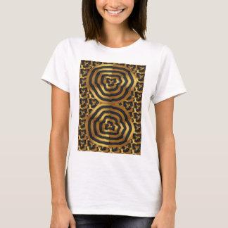 Arte abstracta dourada da onda do ouro no presente camiseta