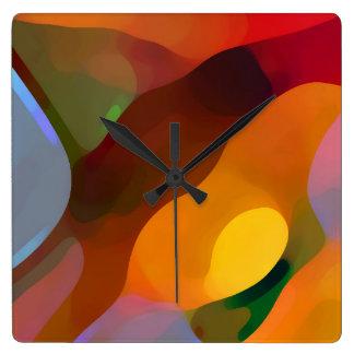 Arte abstracta encontrada paraíso relógio quadrado