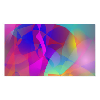 Arte abstracta espontânea cartões de visitas