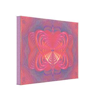 Arte abstracta estrangeira da borboleta impressão em tela