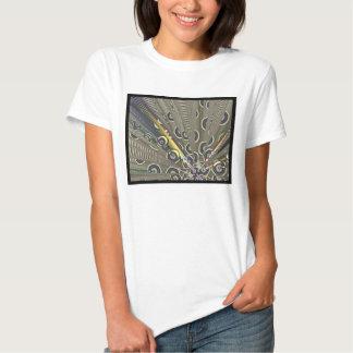 Arte abstracta estrangeira do gerador camiseta