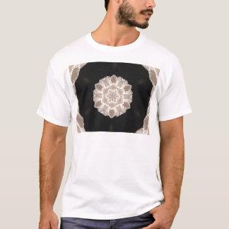 arte abstracta floral bege e de creme camiseta