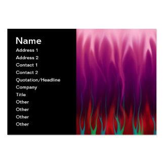 Arte abstracta - fogo - chamas cartão de visita grande