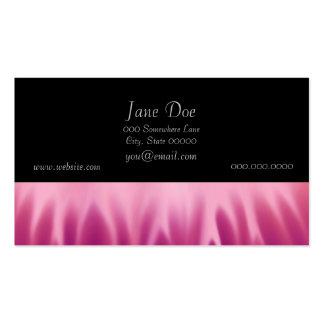 Arte abstracta - fogo - chamas cartão de visita