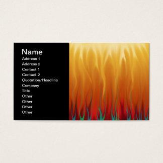 Arte abstracta - fogo - chamas do fundo cartão de visitas