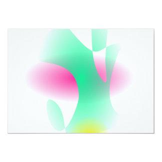 Arte abstracta formando simples convite personalizado