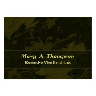 Arte abstracta Khaki escura de Brown Cartão De Visita Grande