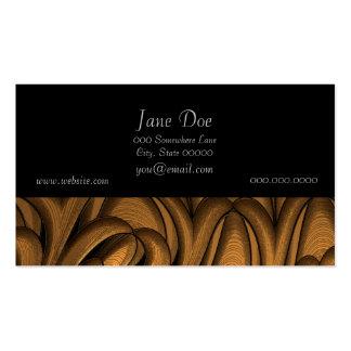 Arte abstracta líquida do ouro cartão de visita