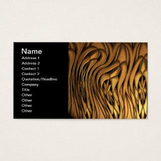 Arte abstracta líquida do ouro cartão de visitas