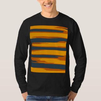 Arte abstracta listrada do vintage camiseta