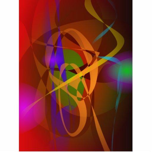 Arte abstracta luminosa de Brown Digital Esculturafotos