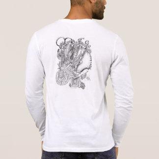 Arte abstracta na camisa camiseta