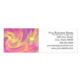 Arte abstracta nos rosa e nos amarelos cartão de visita skinny