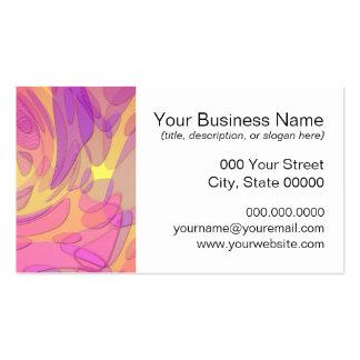 Arte abstracta nos rosa e nos amarelos cartão de visita