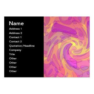 Arte abstracta nos rosa e nos amarelos cartão de visita grande