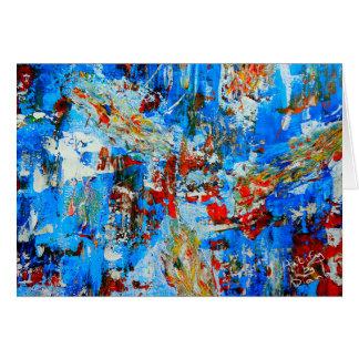 Arte abstracta original, cartão abstrato moderno