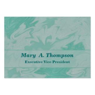 Arte abstracta Pastel do verde de turquesa Cartão De Visita Grande