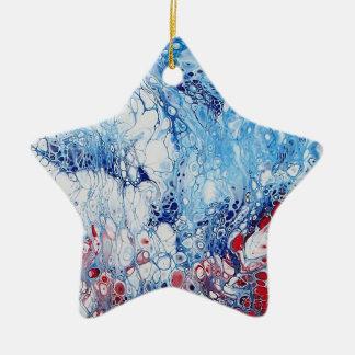 Arte abstracta patriótica no ornamento da estrela