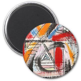 Arte abstracta pintada terceira Olho-Mão Imã