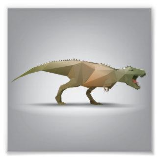Arte abstracta poligonal de Rex do tiranossauro de Impressão De Foto