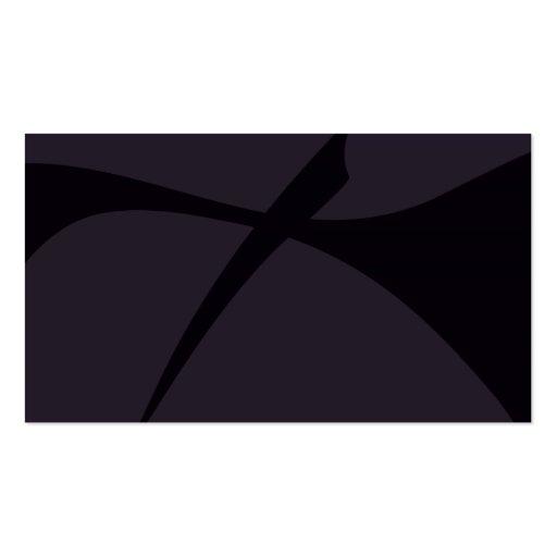 Arte abstracta preta simples cartões de visitas