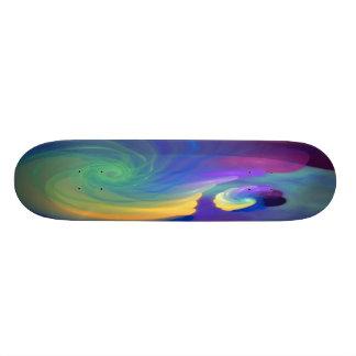 Arte abstracta protegida da vida shape de skate 20cm