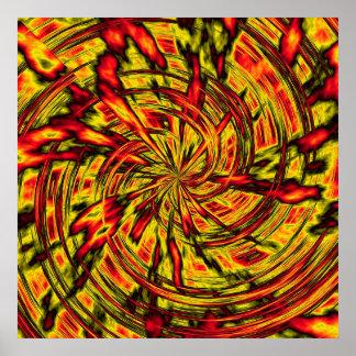 arte abstracta psicadélico poster