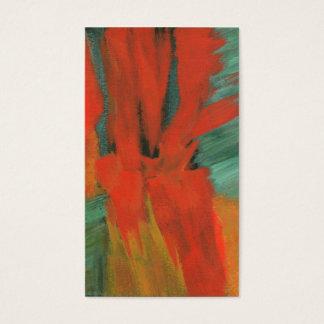 Arte abstracta que pinta o ouro verde alaranjado cartão de visitas