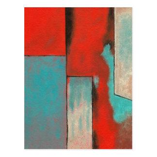 Arte abstracta que pinta os cantos de minha mente cartão postal