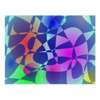 Arte abstracta quebrada do design do mosaico do cartão postal