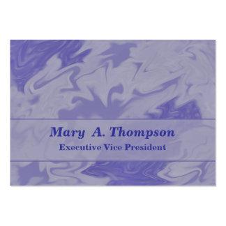 Arte abstracta roxa azul Pastel Cartão De Visita Grande