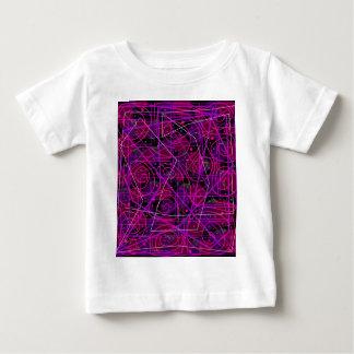 Arte abstracta roxa camisetas