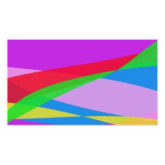 Arte abstracta roxa cor-de-rosa do minimalismo cartões de visita