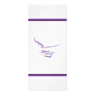 Arte abstracta roxa da bacia de arroz 10.16 x 22.86cm panfleto