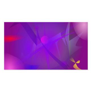 Arte abstracta roxa de Digitas do buraco negro Cartão De Visita