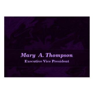 Arte abstracta roxa escura cartão de visita grande