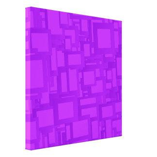 Arte abstracta roxa temperamental impressão em tela
