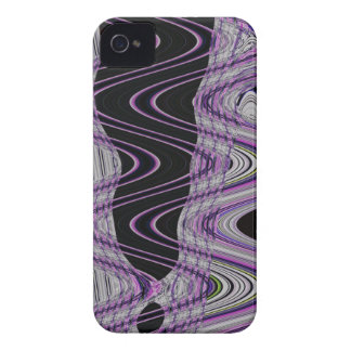 arte abstracta selvagem preta roxa capas para iPhone 4 Case-Mate