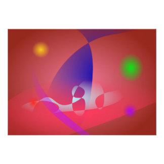Arte abstracta simples 2 de Avermelhado-Brown Convite