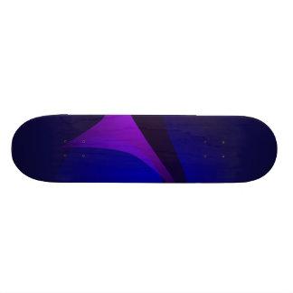 Arte abstracta simples da gradação do marinho shape de skate 19,7cm